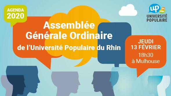 L'UP du Rhin vous invite à son Assemblée Générale le 13 février 2020
